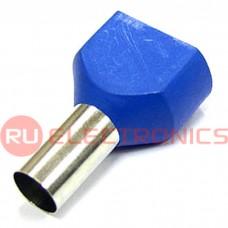 Наконечник штыревой втулочный изолированный RUICHI DTE16014, 5.8x14 мм, , 2х16.0 мм2, синий