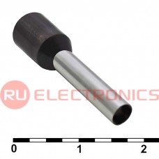 Наконечник на кабель RUICHI DN04012, чёрный, 2.8x12 мм, 4.0 мм2