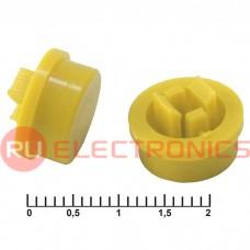 Колпачок для кнопок RUICHI A24, жёлтый