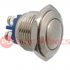 Кнопка антивандальная RUICHI PBS-28B, D-16  мм, стальная