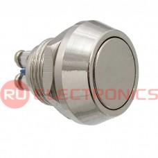 Кнопка антивандальная RUICHI PBS-28B-2, D-12  мм, стальная
