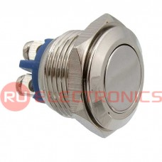 Кнопка антивандальная RUICHI PBS-28B-2, D-16  мм, стальная