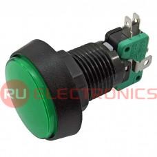 Кнопка GMSI RUICHI GMSI-4B-C, no(nc)+nc(no), зелёная