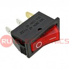 Клавишный переключатель RUICHI IRS-101-3C, ON-OFF, красный