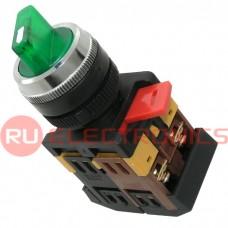 Поворотный переключатель RUICHI 3SA12-22E-11XD/21, зелёный
