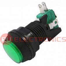 Кнопка GMSI RUICHI 7B-C no-nc+nc-no, зеленая