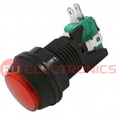 Кнопка GMSI RUICHI 7B-C no-nc+nc-no, красная