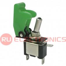 Тумблер RUICHI SAC-01 ASW-07D, LED, зелёный