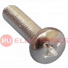 Винт стальной RUICHI DIN7985 М2х16, полукруглая головка