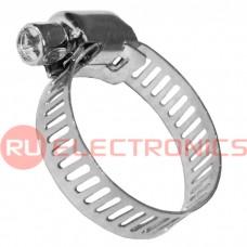 Хомут стальной червячный RUICHI 16-25/8 мм