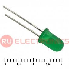 Светодиод RUICHI, 5 мм, 30 мКД, угол излучения 20 градусов, зелёный