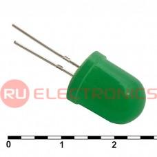 Светодиод RUICHI, 10 мм, зелёный, угол излучения 20 градусов