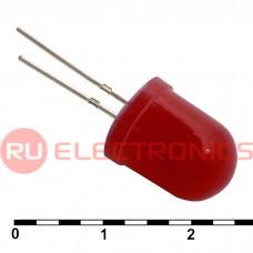 Светодиод RUICHI, 10 мм, красный, угол излучения 20 градусов