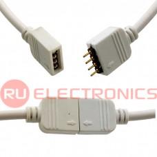 Сборка негерметичная для светодиодных лент RUICHI, LED 4P, цвет белый, длина 0,3 м