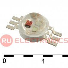 Светодиод мощный RUICHI, 3 Вт, 3.6 В, 80-100 ЛМ, RGB