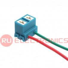 Коннектор для светоарматуры RUICHI, колено H7, керамический, Cu, длина проводов 100 мм