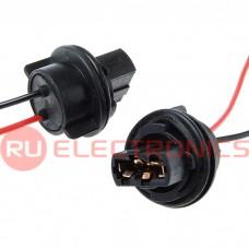 Коннектор для светоарматуры 7440/T20, одинарный, пластиковый, длина проводов 100 мм
