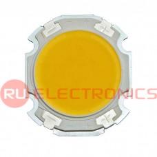 Светодиод мощный RUICHI, 3 Вт, 12 В, 90 ЛМ, 3000K, 20 мм, COB