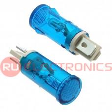 Лампочка неоновая в корпусе RUICHI MDX-14, синяя, 15 мА