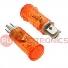 Лампочка неоновая в корпусе RUICHI MDX-14, оранжевая, 220 В, 15 мА