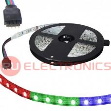 Светодиодная лента RUICHI, 5050, 300 LED, IP33, 12 В, RGB, длина 5 м