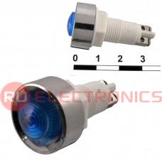 Лампочка неоновая в корпусе RUICHI N-836-B, 220 В, синяя