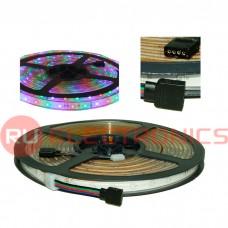 Светодиодная лента RUICHI, 2835, 300 LED, IP68, 12 В, RGB, длина 5 м
