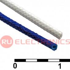 Силиконовая армированная электроизоляционная трубка RUICHI ТКСП, диаметр 2.0, синяя, 1200 В