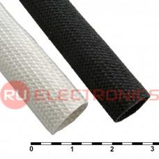 Силиконовая армированная электроизоляционная трубка RUICHI ТКСП, диаметр 11.0, белая, 1200 В