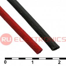 Силиконовая трубка RUICHI ТКСП Ф2.0 красная 1200V, армированная