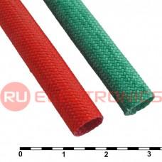 Силиконовая армированная электроизоляционная трубка RUICHI ТКСП, диаметр 7.0, красная, 1200 В