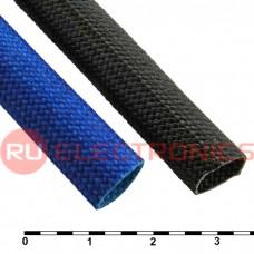 Силиконовая армированная электроизоляционная трубка RUICHI ТКСП, диаметр 10.0, синяя, 1200 В