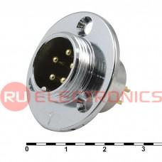 Разъем цилиндрический малогабаритный SZC GX18M-5E, 5 контактов