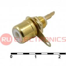 Разъём RCA RUICHI 7-0234W GOLD/RS-115G, 50 В