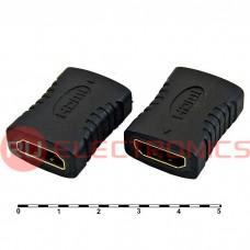 Разьем HDMI/DVI RUICHI HDMI F/F (HAP-004), чёрный