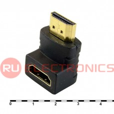 Разьем HDMI/DVI RUICHI HDMI F/M-R (SZC-016), угловой