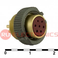 Разъём РС RUICHI РС7ТВ розетка б/к (аналог), 7 контактов
