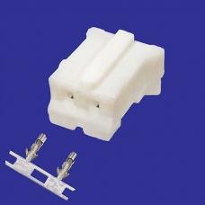 Разъем питания низковольтный RUICHI HB-02 (MU-2F) наклон 2.0 мм+клеммный, 2 контакта