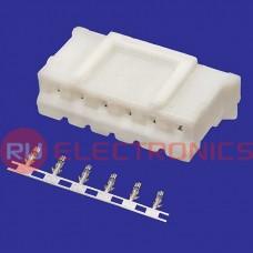 Разъём питания низковольтный RUICHI HB-06 (MU-6F) наклон 2.0 мм + termin, 6 контаков