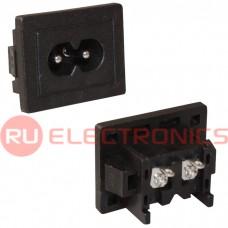 Штеккер панельный 2-х полюсный серии AC-03X RUICHI AC-036