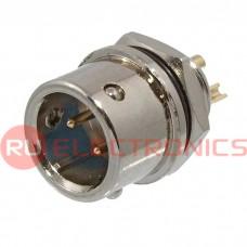 Разъем быстроразъемный RUICHI XS9-2(Zn) panel plug, 2-х контактый