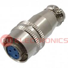 Разъем быстроразъемный RUICHI XS9-3(Zn) cable jack, 3-х контактый