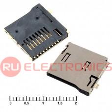 Держатель карты памяти RUICHI micro-SD SMD 9pin ejector, 9 контактов