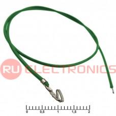 Разъём питания низковольтный RUICHI HU 2,54 мм AWG26 0,3m зелёный, 1 контакт