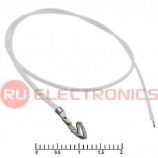 Разъём питания низковольтный RUICHI HU 2,54 мм AWG26 0,3m белый, 1 контакт