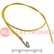 Разъём питания низковольтный RUICHI HU 2,54 мм AWG26 0,3m желтый, 1 контакт