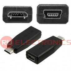 Разъем USB RUICHI USB-F Mini to USB-M Micro