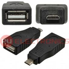 Разъем USB RUICHI USB AF/Micro 5P, черный