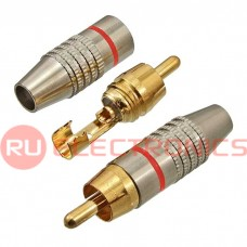 Разъём RCA SZC-0218/RP-213, красный