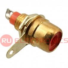 Разъём RCA RUICHI 7-0234R GOLD/RS-115G, 50 В